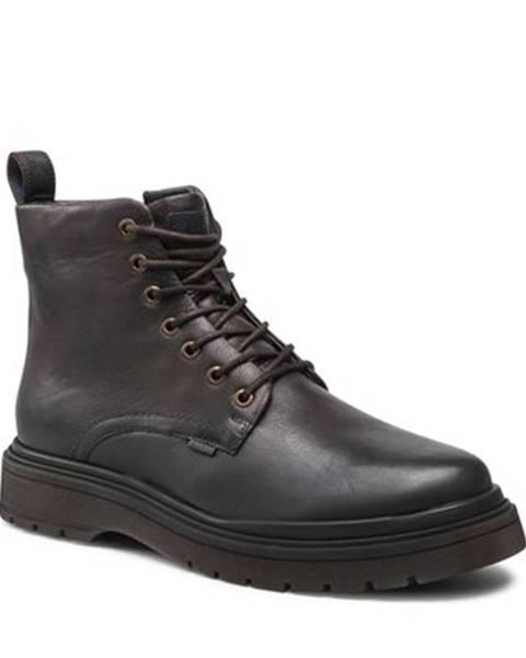 Tmavohnedé topánky Badura
