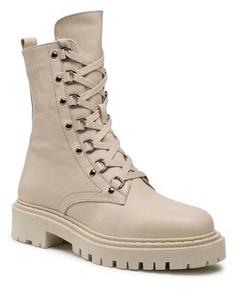 Béžové topánky Badura