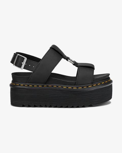 Čierne sandále Dr. Martens