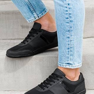 Pánske sneakers topánky T338 - čierne