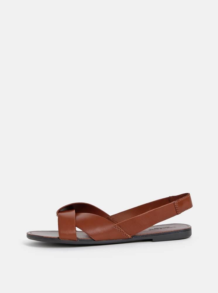 Vagabond Hnedé dámske kožené sandále  Tia