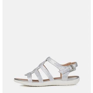 Dámske kožené sandále v striebornej farbe  Sand Vega