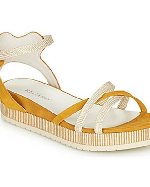 Žlté sandále Regard