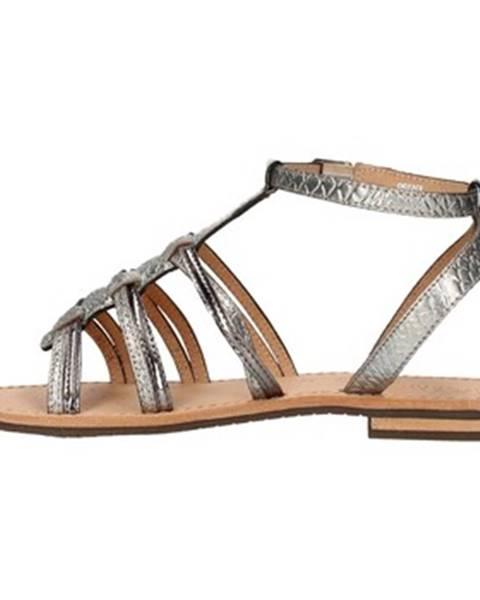Strieborné sandále Geox