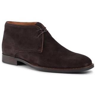 Členkové topánky Gino Rossi MTU444-WILSON-02 Prírodná koža(useň) - Zamš