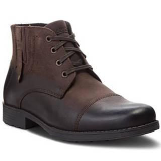 Šnurovacia obuv  MB-PRADO-01 nubuk,koža(useň) lícová