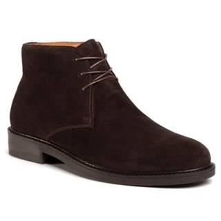 Šnurovacia obuv Gino Rossi MI07-A962-A791-20W Prírodná koža(useň) - Zamš