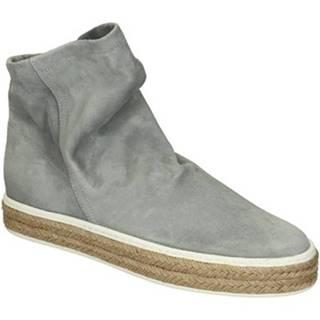 Nízke čižmy Leonardo Shoes  309/1 SCAMOSCIATO PERLA