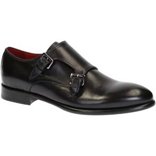 Mokasíny Leonardo Shoes  06417 VITELLO NERO