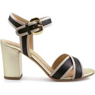 Sandále Leonardo Shoes  6350 VIT NERO VIT BEIGE LAM ORO