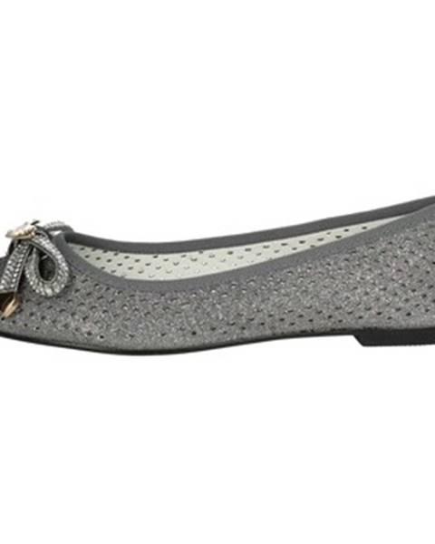 Strieborné topánky Laura Biagiotti