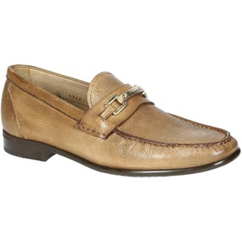 Leonardo Shoes Mokasíny Leonardo Shoes  06944 12991 FORMA SCA CERVO LEGNO