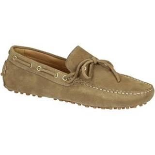 Mokasíny Leonardo Shoes  502 CAMOSCIO FANGO PIOLI