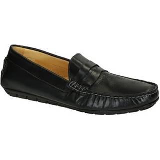 Mokasíny Leonardo Shoes  503 VITELLO BLU FAUSTO