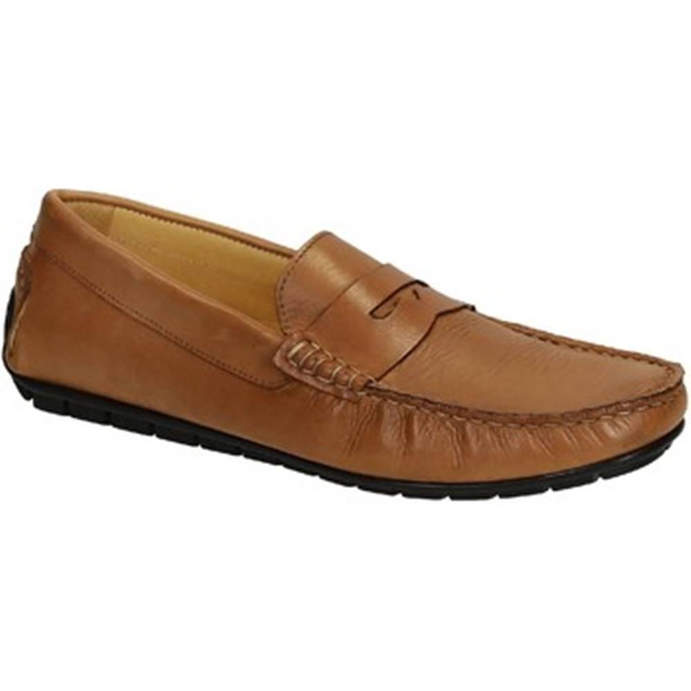Leonardo Shoes Mokasíny Leonardo Shoes  503 VITELLO CUOIO FAUSTO