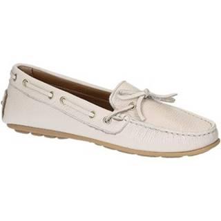 Mokasíny Leonardo Shoes  3040 VITELLO-GOMMA ICEBERG