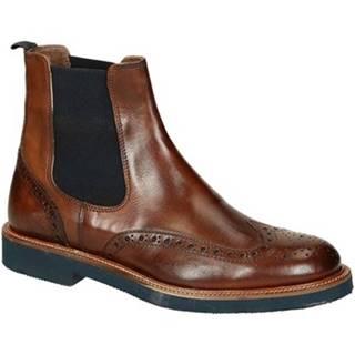 Polokozačky Leonardo Shoes  U385 PE VITELLO MARR 8259 C024