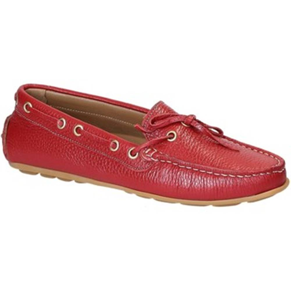 Leonardo Shoes Mokasíny Leonardo Shoes  3040 VITELLO-GOMMA ROSSO