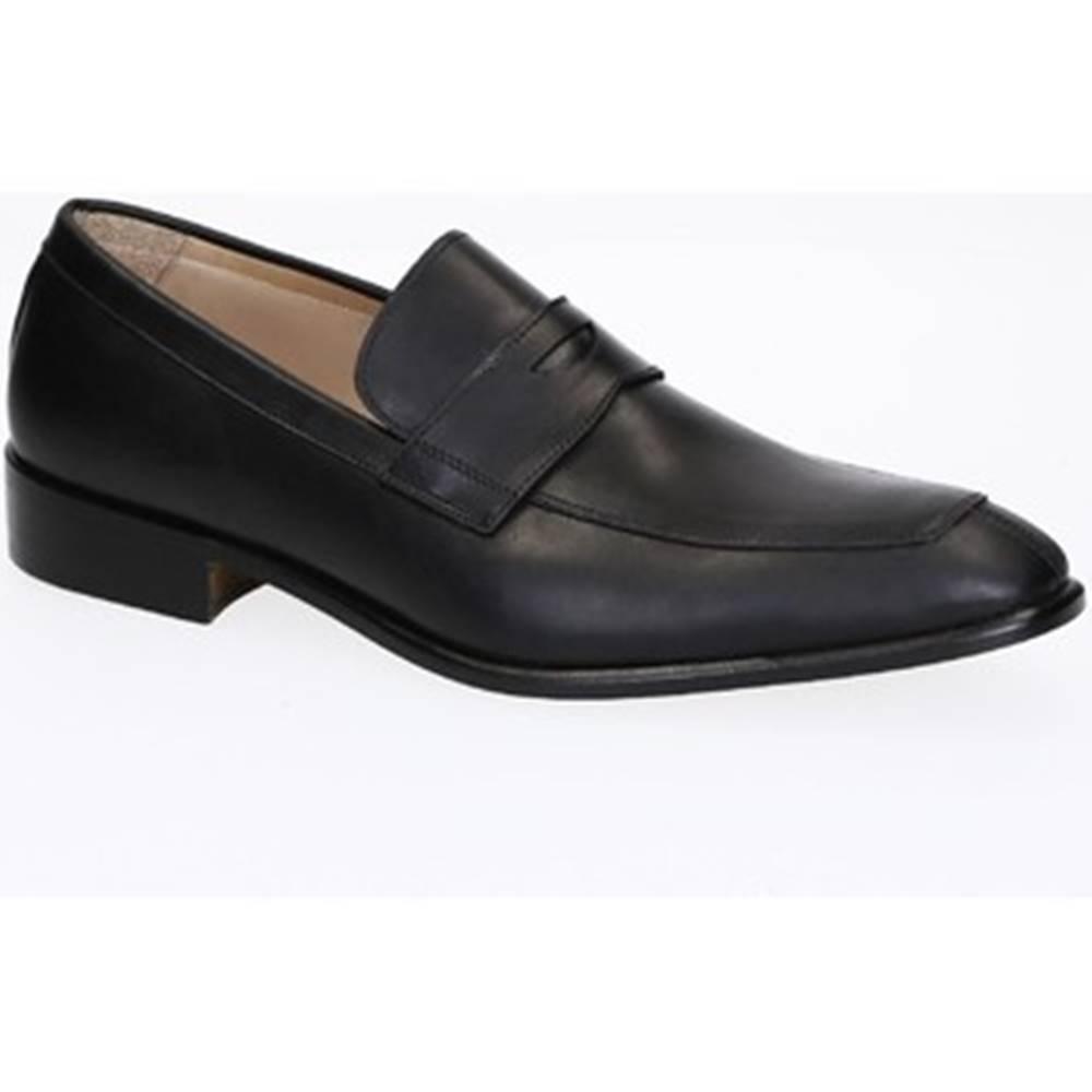Leonardo Shoes Mokasíny Leonardo Shoes  PINA 8 VITELLO NERO