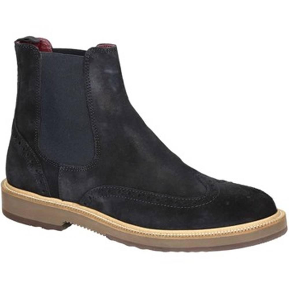 Leonardo Shoes Polokozačky Leonardo Shoes  U581 PE CROSTA IN BL 8263 C024