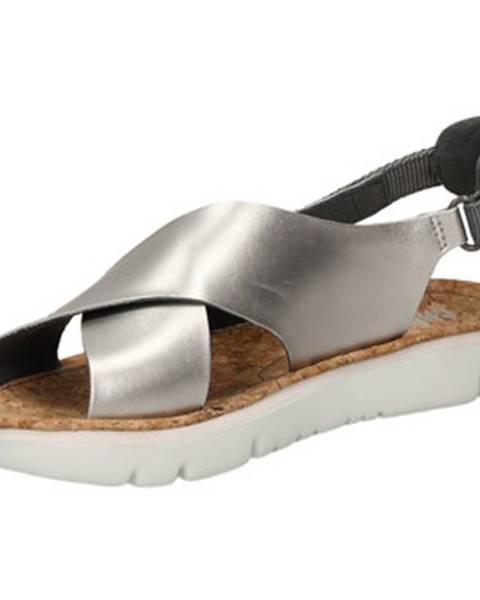 Strieborné topánky Camper