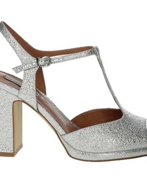 Strieborné topánky Luciano Barachini