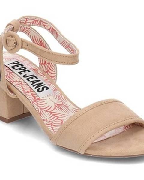 Béžové topánky Pepe jeans