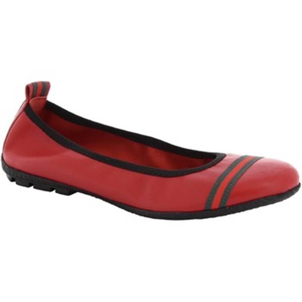 Leonardo Shoes Balerínky/Babies  5618 G/SOSIA NAPPA ROSSO