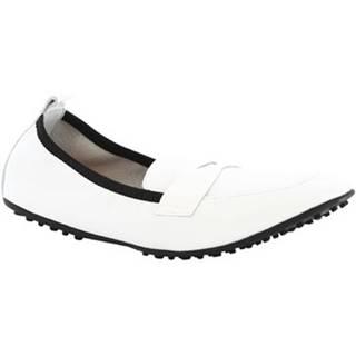 Balerínky/Babies Leonardo Shoes  384-13/1102 NAPPA BIANCO