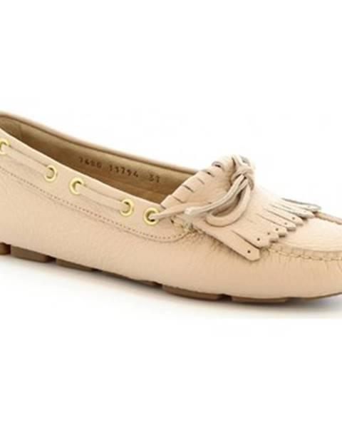 Béžové topánky Leonardo Shoes