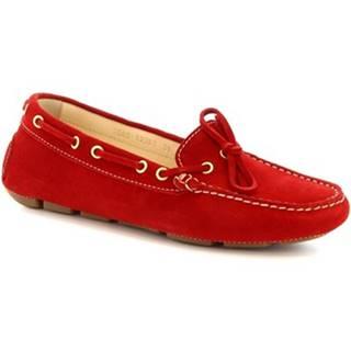 Mokasíny Leonardo Shoes  7502 SOFTY FERRARI 286