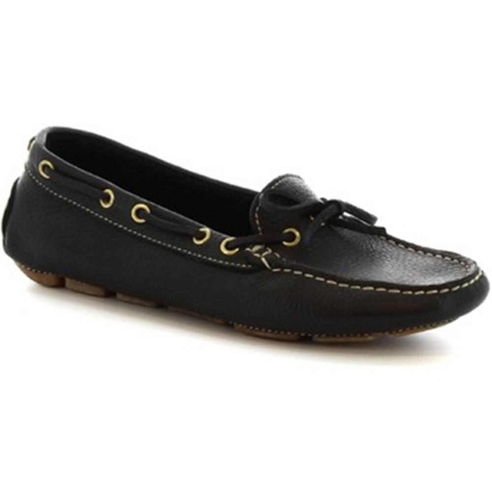 Leonardo Shoes Mokasíny Leonardo Shoes  7502A MOUSSE NERO