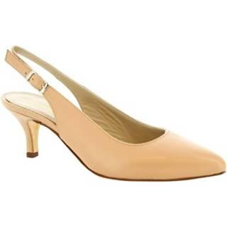 Lodičky Leonardo Shoes  141 NAPPA NUDE