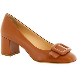 Lodičky Leonardo Shoes  4560 NAPPA MARRONE