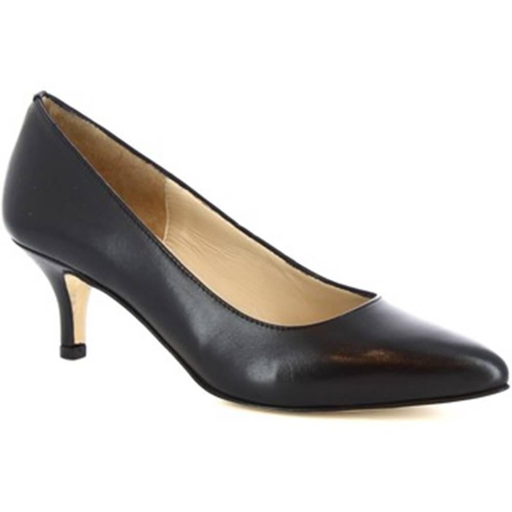 Leonardo Shoes Lodičky Leonardo Shoes  118 NAPPA NERO