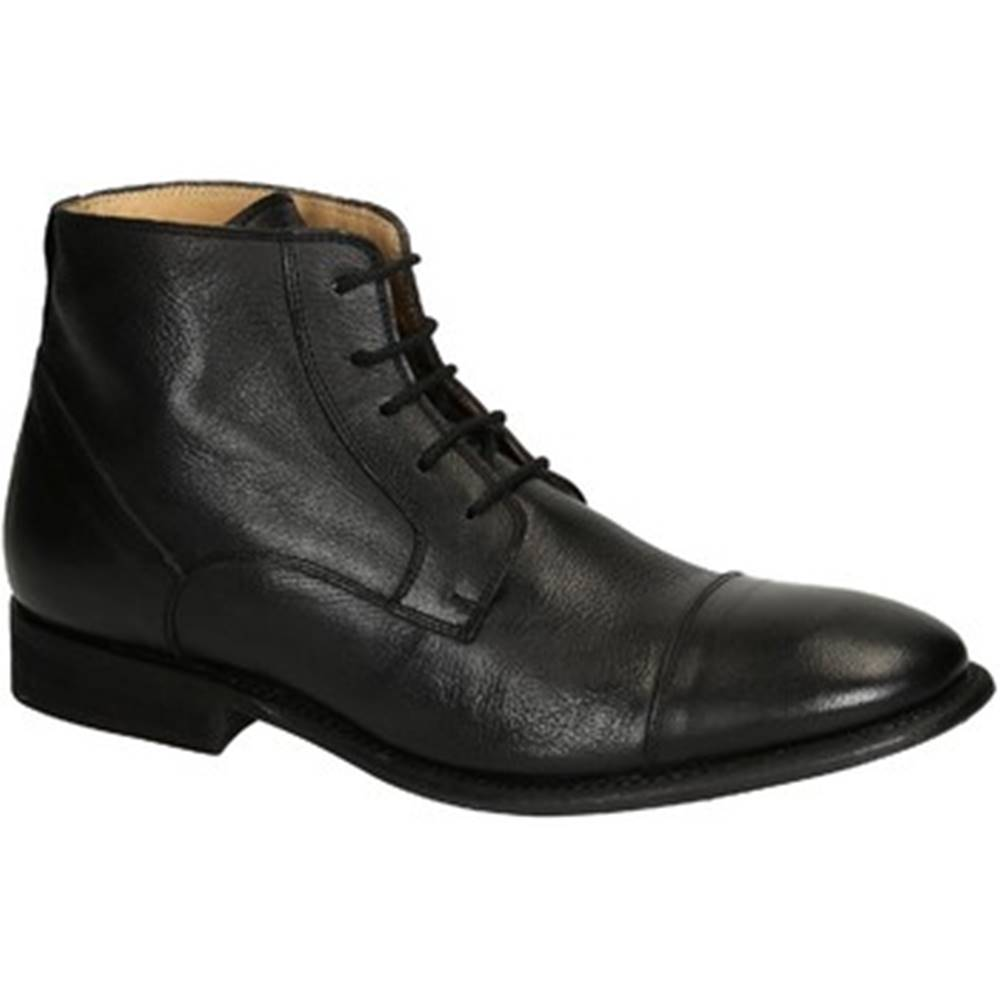 Leonardo Shoes Polokozačky Leonardo Shoes  PINA 3022 CAVALLO NERO