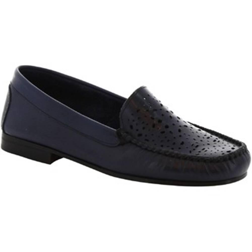 Leonardo Shoes Balerínky/Babies Leonardo Shoes  5026 VITELLO BLUE