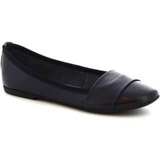 Balerínky/Babies Leonardo Shoes  571-17/MICRO NAPPA BLU