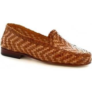 Mokasíny Leonardo Shoes  5 CUOIO SABBIA