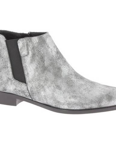 Strieborné topánky Giuseppe Zanotti