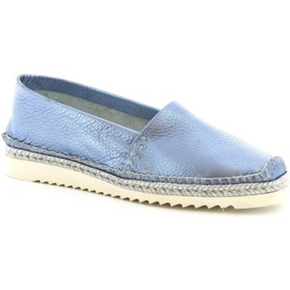 Leonardo Shoes Mokasíny Leonardo Shoes  010 PERLATO BLEU