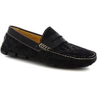 Mokasíny Leonardo Shoes  504 NIAGARA CRUST BLU