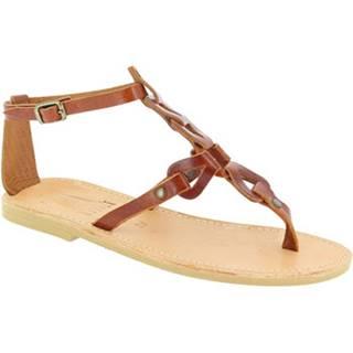 Sandále Attica Sandals  GAIA CALF DK-BROWN
