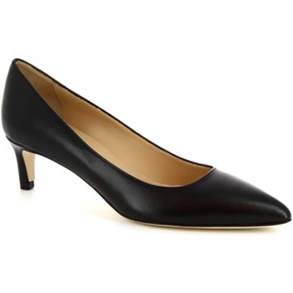 Leonardo Shoes Lodičky Leonardo Shoes  4511 NAPPA NERO
