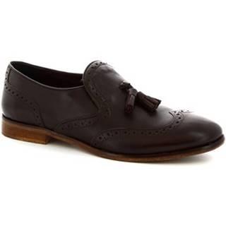 Mokasíny Leonardo Shoes  266/2 DIVER IP TESTA. MORO