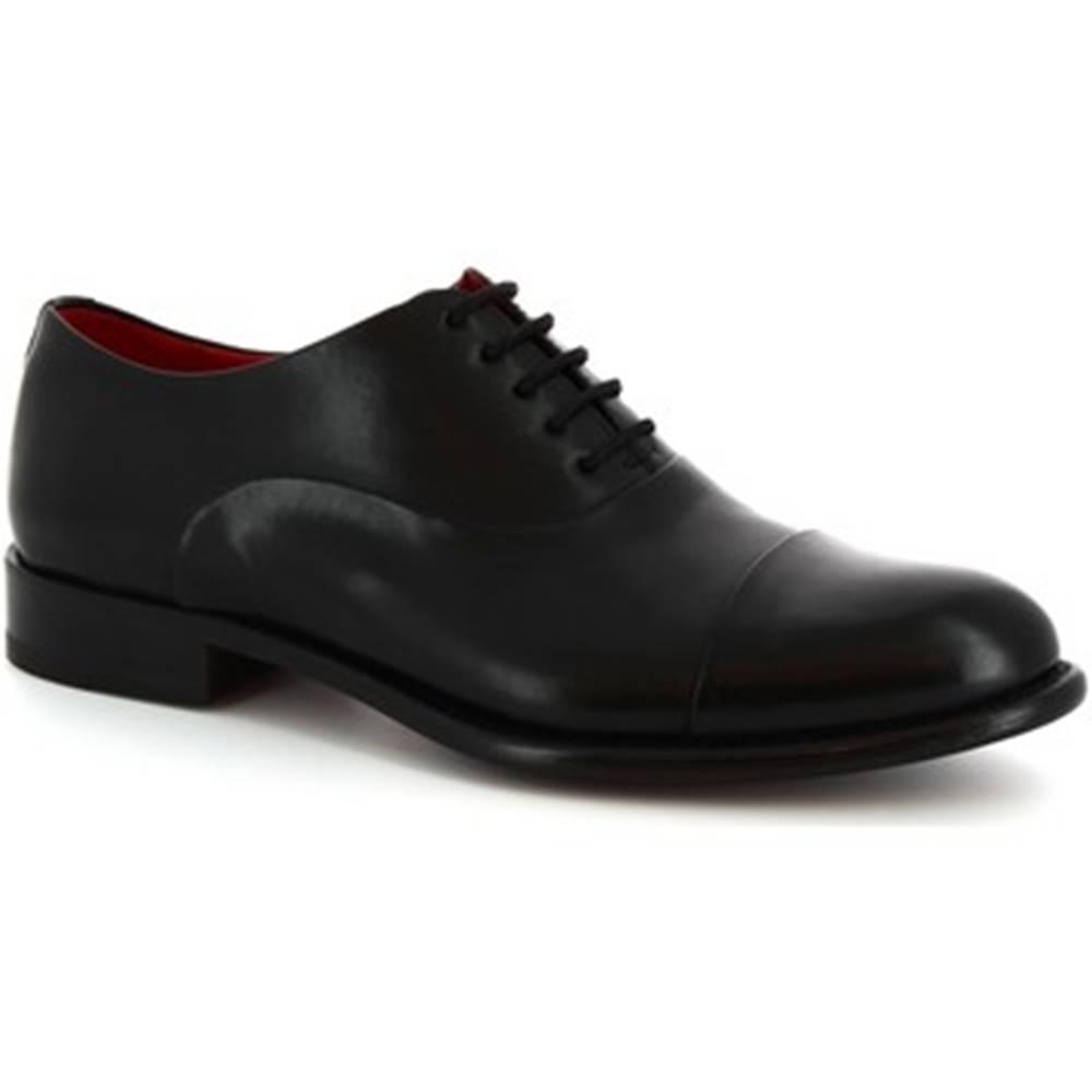 Leonardo Shoes Richelieu Leonardo Shoes  7658I19 TOM MONTECARLO DELAVE NERO