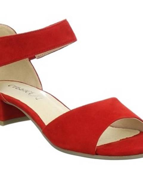 Červené topánky Caprice