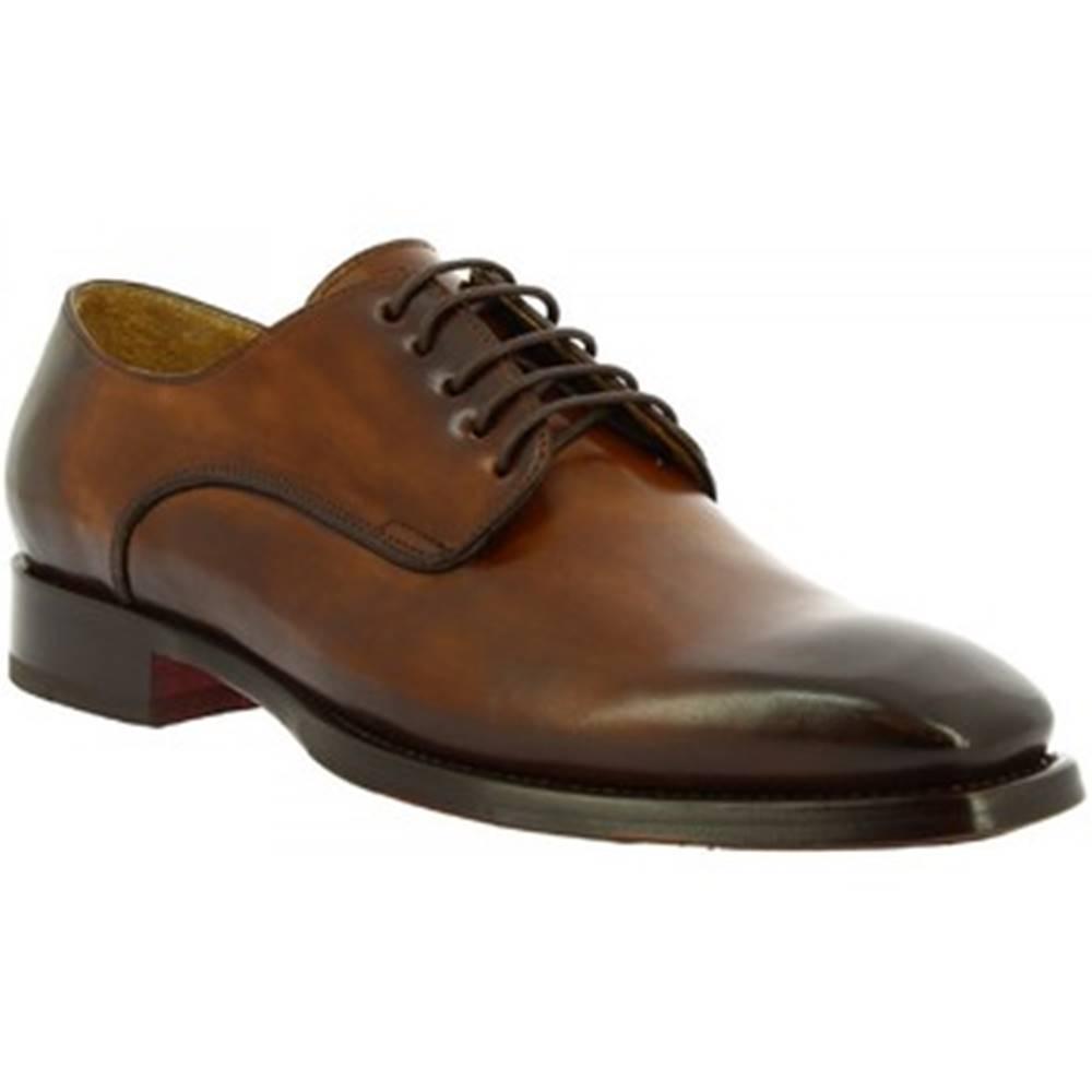 Leonardo Shoes Derbie Leonardo Shoes  9574E20 TOM MONTECARLO AV BRANDY