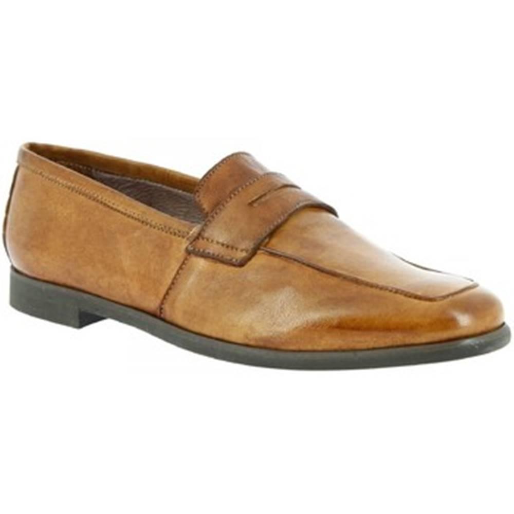Leonardo Shoes Mokasíny Leonardo Shoes  187/3 PAPUA BEIGE CUOIO
