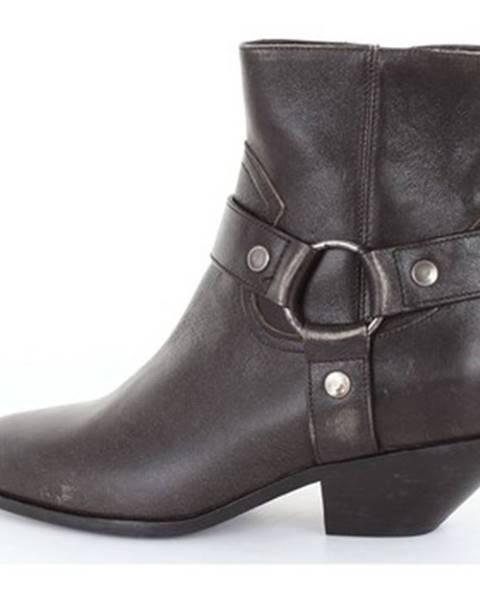 Čierne topánky Saint Laurent